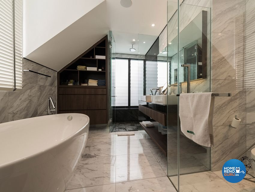 Contemporary, Minimalist, Modern Design - Bathroom - Landed House - Design by 9 Creation Pte Ltd