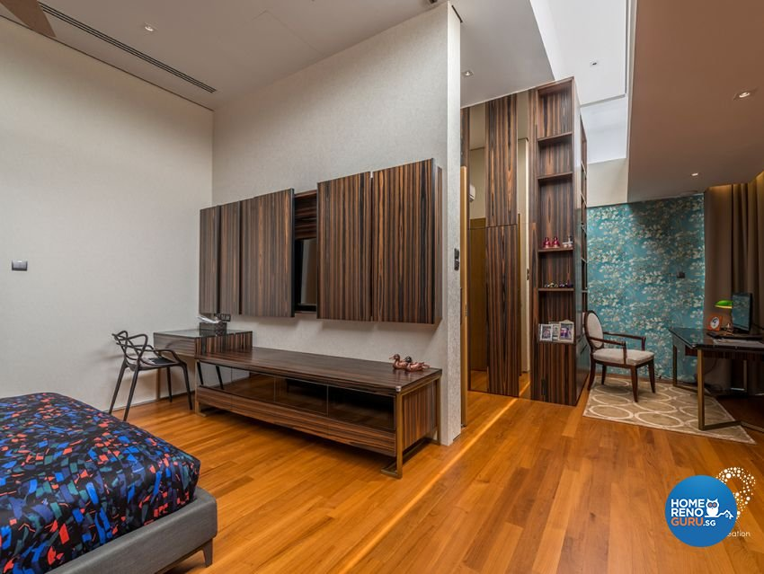 Contemporary, Minimalist, Modern Design - Bedroom - Landed House - Design by 9 Creation Pte Ltd