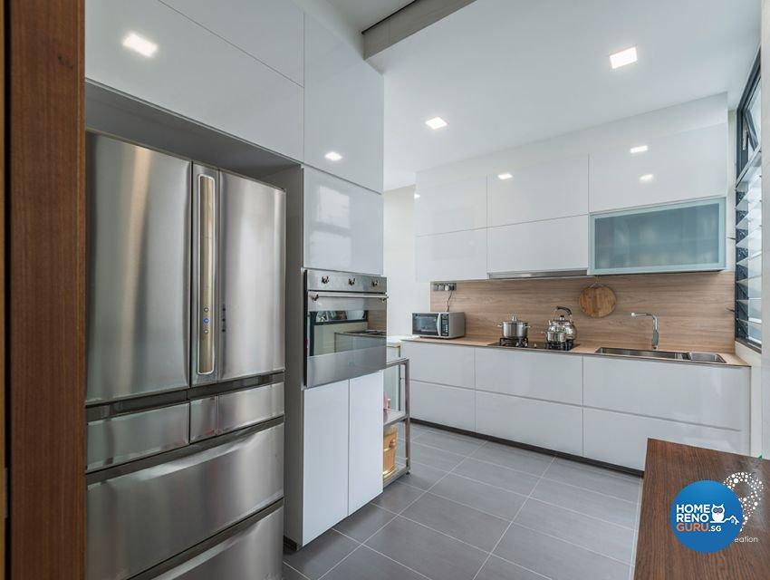 Contemporary, Minimalist, Modern Design - Kitchen - Landed House - Design by 9 Creation Pte Ltd