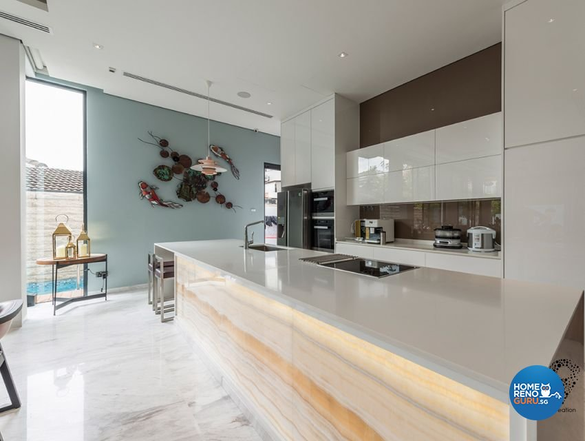 Contemporary, Minimalist, Modern Design - Dining Room - Landed House - Design by 9 Creation Pte Ltd