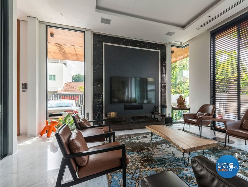 Contemporary, Minimalist, Modern Design - Living Room - Landed House - Design by 9 Creation Pte Ltd