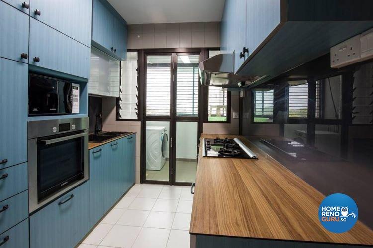 Modern, Retro, Vintage Design - Kitchen - HDB 4 Room - Design by 9 Creation Pte Ltd