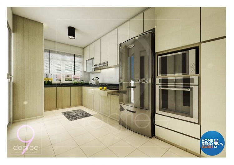 Contemporary, Mediterranean, Modern, Scandinavian Design - Kitchen - HDB 4 Room - Design by 9 Degree Construction Pte Ltd