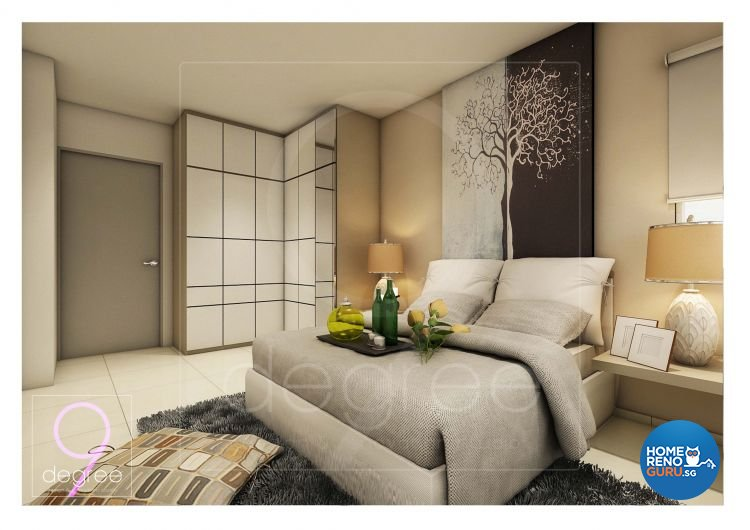 Contemporary, Mediterranean, Modern, Scandinavian Design - Bedroom - HDB 4 Room - Design by 9 Degree Construction Pte Ltd
