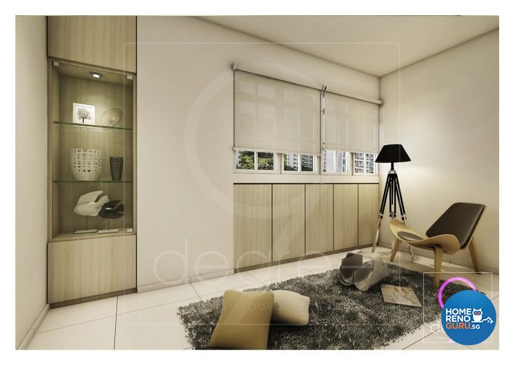 Contemporary, Mediterranean, Modern, Scandinavian Design - Living Room - HDB 4 Room - Design by 9 Degree Construction Pte Ltd