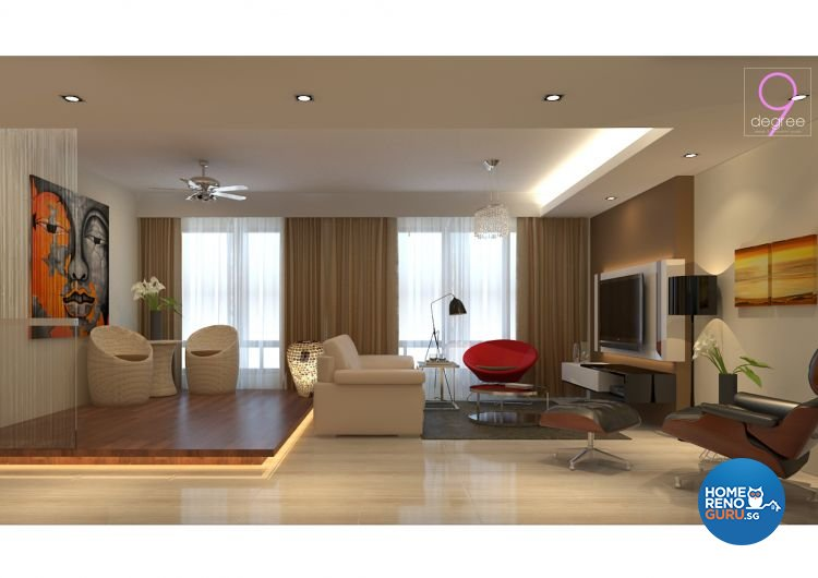 Contemporary, Rustic, Scandinavian Design - Living Room - HDB 5 Room - Design by 9 Degree Construction Pte Ltd