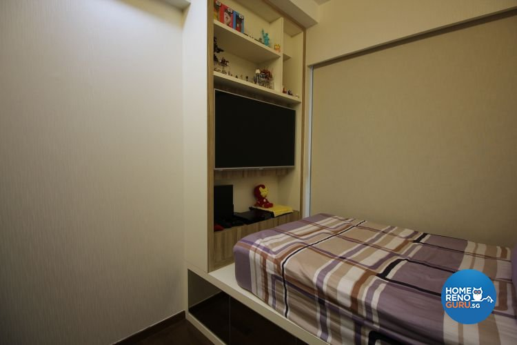 Contemporary, Industrial, Modern Design - Bedroom - HDB 5 Room - Design by 9 Degree Construction Pte Ltd