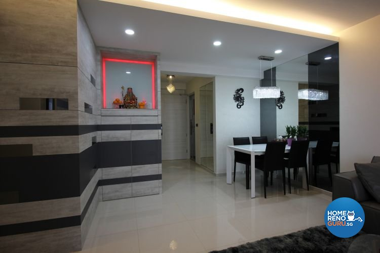 Contemporary, Industrial, Modern Design - Dining Room - HDB 5 Room - Design by 9 Degree Construction Pte Ltd