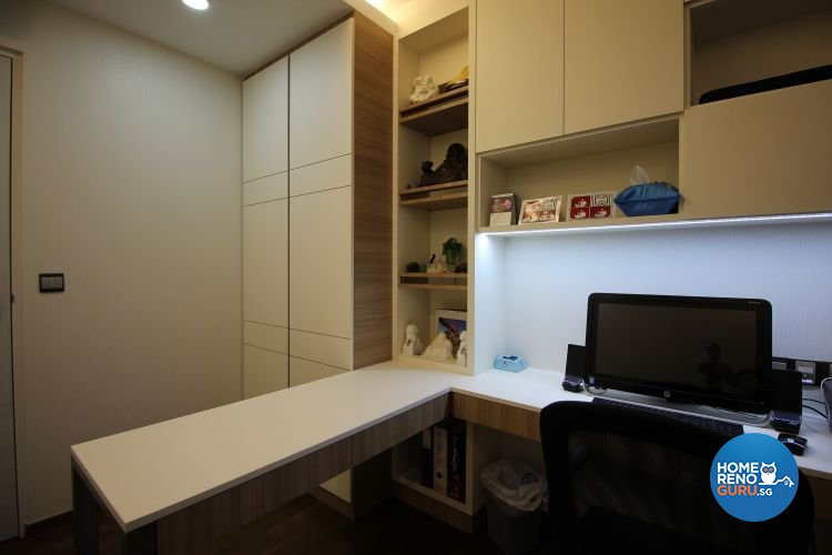 Contemporary, Industrial, Modern Design - Study Room - HDB 5 Room - Design by 9 Degree Construction Pte Ltd