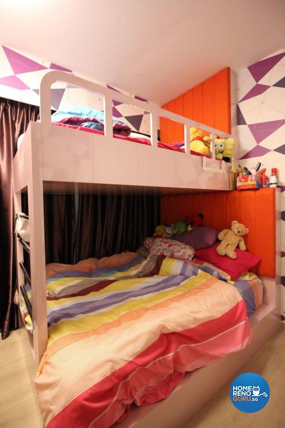 Contemporary, Modern, Scandinavian Design - Bedroom - HDB Executive Apartment - Design by 9 Degree Construction Pte Ltd