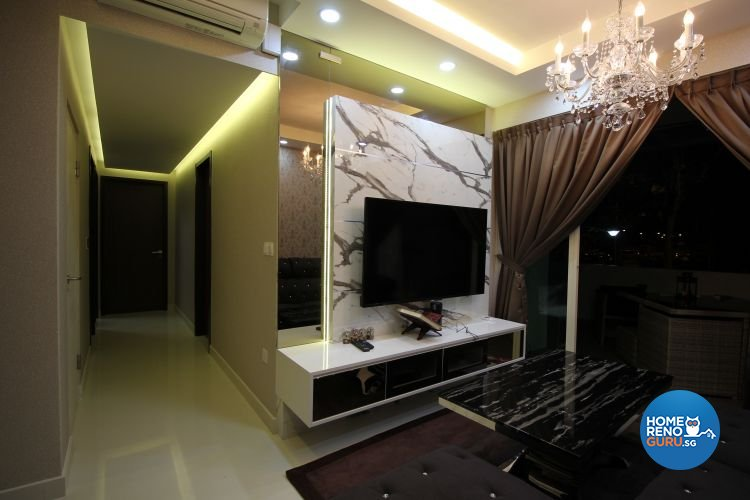 Contemporary, Modern, Scandinavian Design - Living Room - HDB Executive Apartment - Design by 9 Degree Construction Pte Ltd
