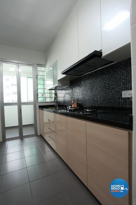 Minimalist, Modern, Scandinavian Design - Kitchen - HDB 4 Room - Design by 9 Degree Construction Pte Ltd