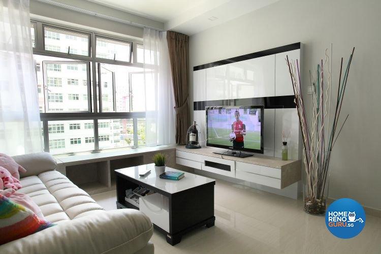 Minimalist, Modern, Scandinavian Design - Living Room - HDB 4 Room - Design  by