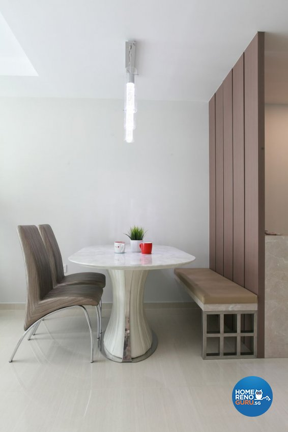 Minimalist, Modern, Scandinavian Design - Dining Room - HDB 4 Room - Design by 9 Degree Construction Pte Ltd