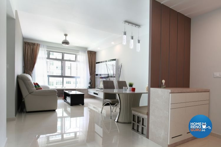 Minimalist, Modern, Scandinavian Design - Living Room - HDB 4 Room - Design by 9 Degree Construction Pte Ltd