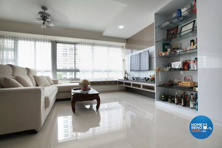 Contemporary, Minimalist, Modern Design - Living Room - HDB 5 Room - Design by 9 Degree Construction Pte Ltd