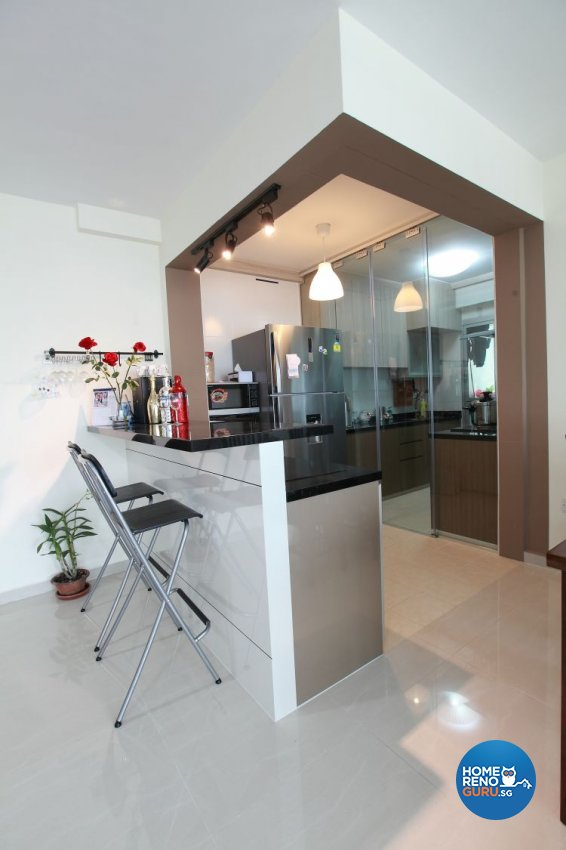 Contemporary, Minimalist, Modern Design - Kitchen - HDB 5 Room - Design by 9 Degree Construction Pte Ltd