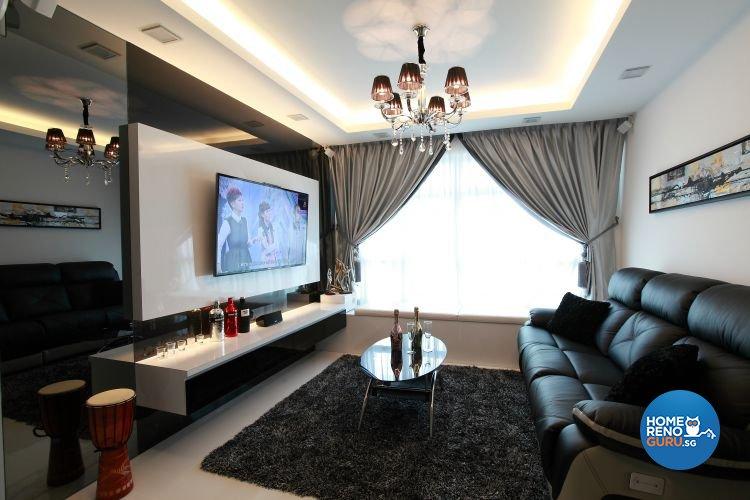 Contemporary, Minimalist, Modern Design - Living Room - HDB 5 Room - Design by 9 Degree Construction Pte Ltd