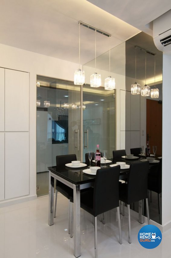 Contemporary, Minimalist, Modern Design - Dining Room - HDB 5 Room - Design by 9 Degree Construction Pte Ltd