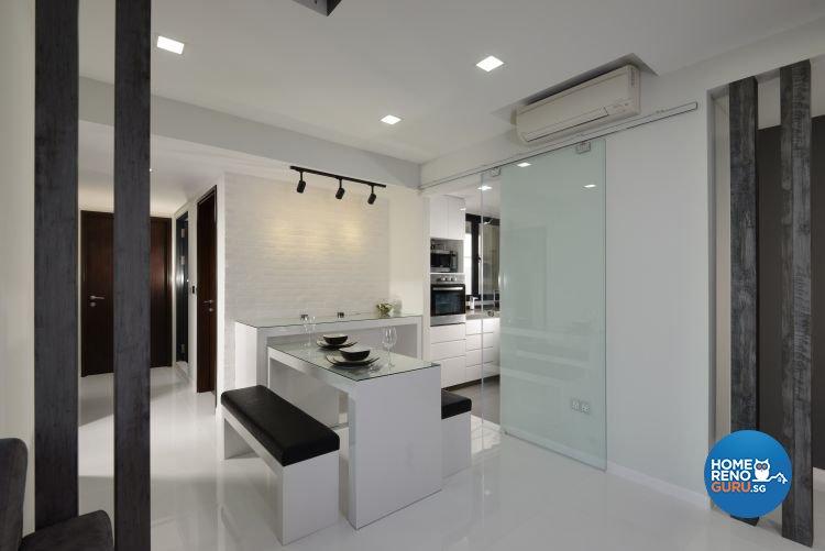 Industrial, Modern Design - Dining Room - Condominium - Design by 9 Degree Construction Pte Ltd