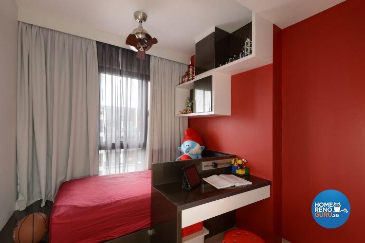 Industrial, Modern Design - Bedroom - Condominium - Design by 9 Degree Construction Pte Ltd