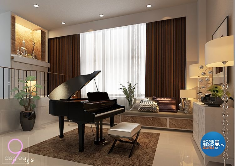 Contemporary, Minimalist Design - Living Room - Landed House - Design by 9 Degree Construction Pte Ltd