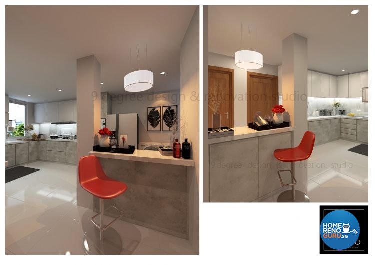 Contemporary, Minimalist Design - Kitchen - Landed House - Design by 9 Degree Construction Pte Ltd