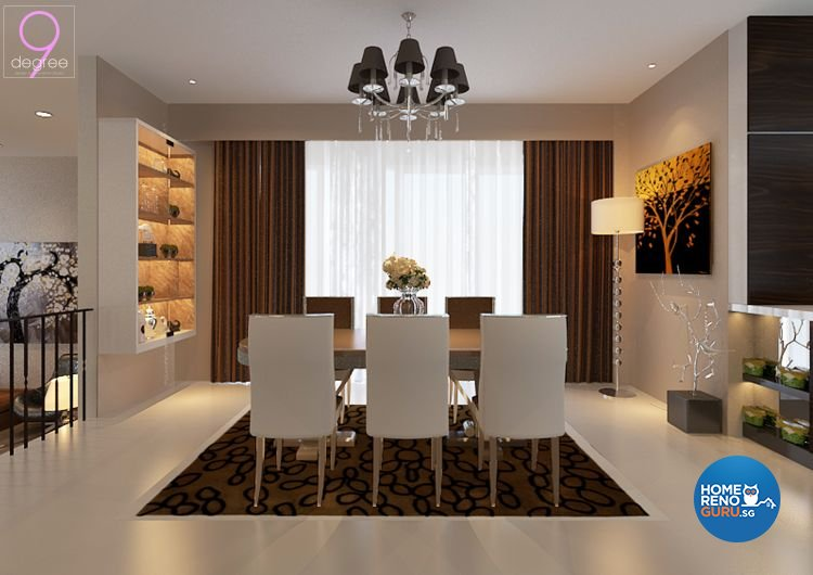 Contemporary, Minimalist Design - Dining Room - Landed House - Design by 9 Degree Construction Pte Ltd
