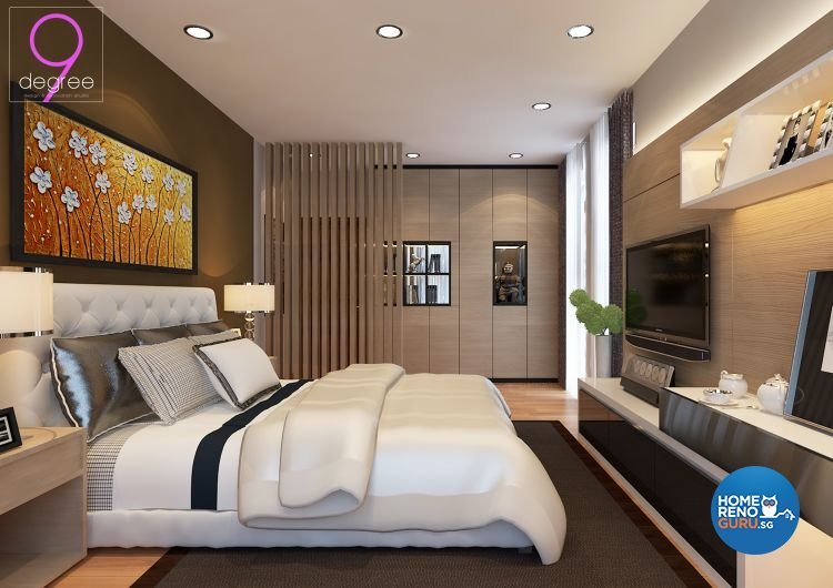 Contemporary, Minimalist Design - Bedroom - Landed House - Design by 9 Degree Construction Pte Ltd