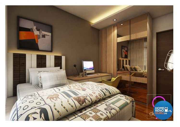 Contemporary, Modern Design - Bedroom - HDB 4 Room - Design by 9 Degree Construction Pte Ltd