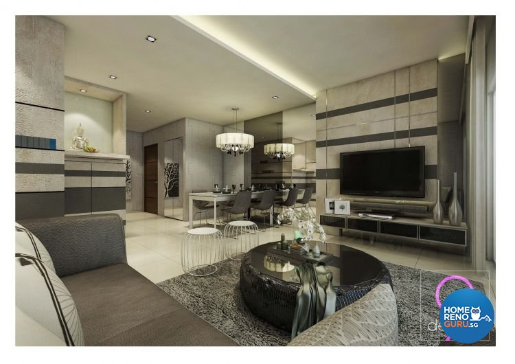 Contemporary, Modern Design - Dining Room - HDB 4 Room - Design by 9 Degree Construction Pte Ltd