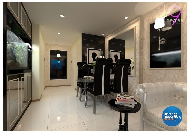 Classical, Modern Design - Dining Room - HDB 4 Room - Design by 9 Degree Construction Pte Ltd