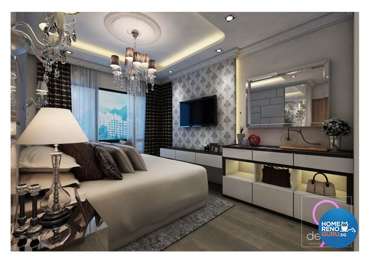Classical, Modern Design - Bedroom - HDB 4 Room - Design by 9 Degree Construction Pte Ltd