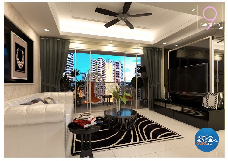 Classical, Modern Design - Living Room - HDB 4 Room - Design by 9 Degree Construction Pte Ltd