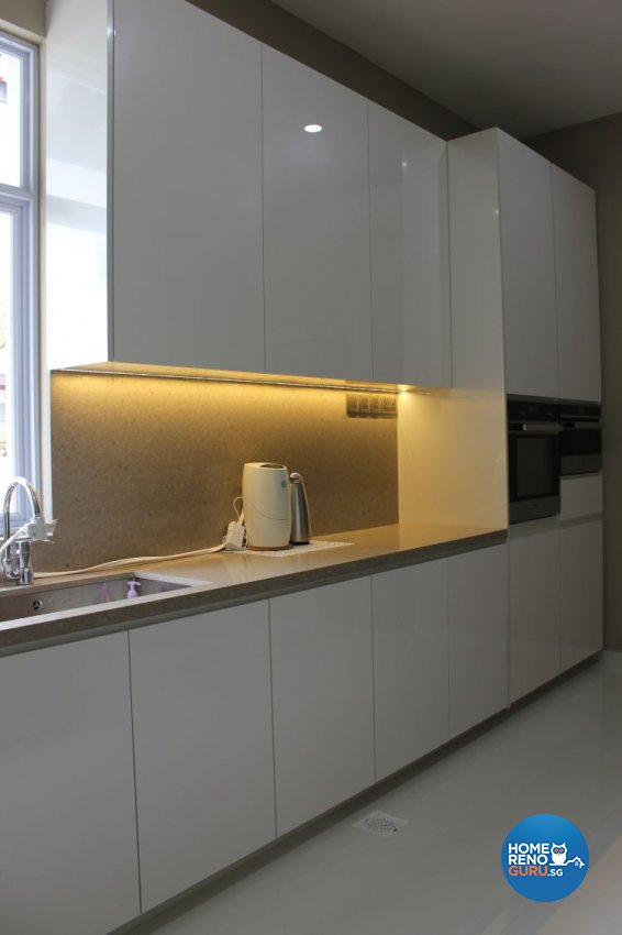 Minimalist, Modern Design - Kitchen - Landed House - Design by 9 Degree Construction Pte Ltd