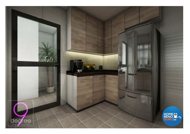 Contemporary, Industrial, Modern, Scandinavian Design - Kitchen - Condominium - Design by 9 Degree Construction Pte Ltd