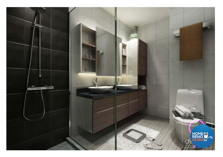 Contemporary, Industrial, Modern, Scandinavian Design - Bathroom - Condominium - Design by 9 Degree Construction Pte Ltd