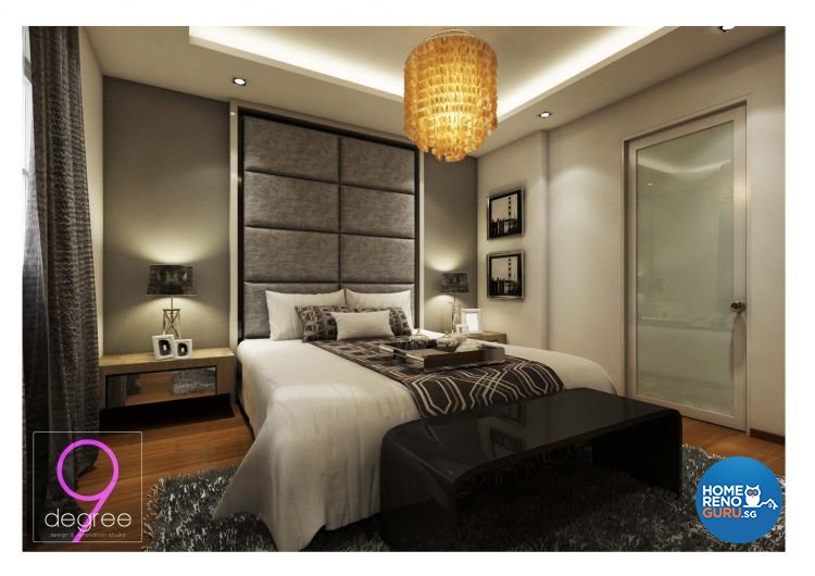 Contemporary, Industrial, Modern, Scandinavian Design - Bedroom - Condominium - Design by 9 Degree Construction Pte Ltd