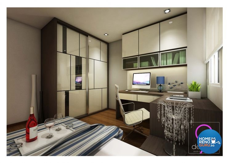 Contemporary, Industrial, Modern, Scandinavian Design - Study Room - Condominium - Design by 9 Degree Construction Pte Ltd