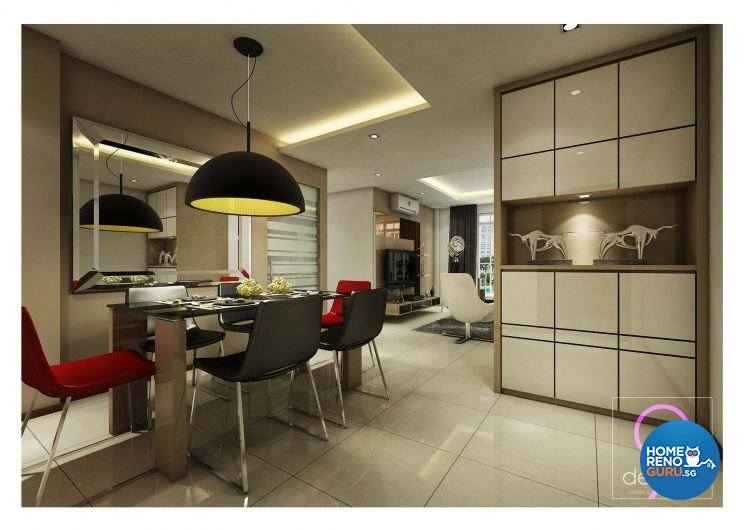 Contemporary, Industrial, Modern, Scandinavian Design - Dining Room - Condominium - Design by 9 Degree Construction Pte Ltd
