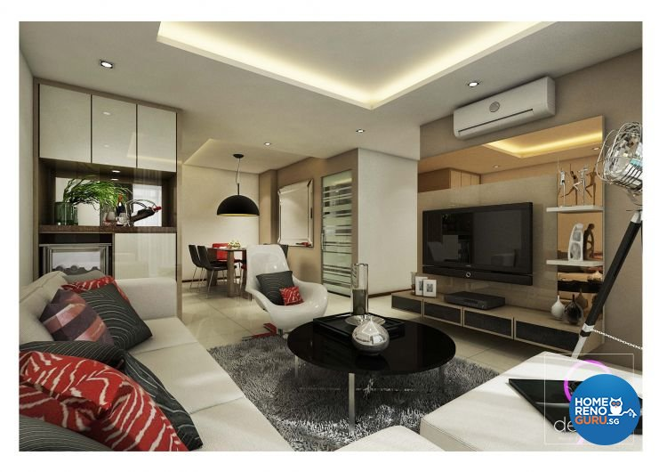 Contemporary, Industrial, Modern, Scandinavian Design - Living Room - Condominium - Design by 9 Degree Construction Pte Ltd