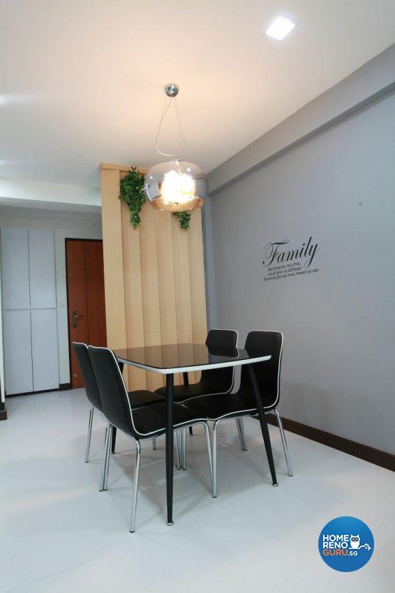 Contemporary, Minimalist, Modern Design - Dining Room - HDB 5 Room - Design by 9 Degree Construction Pte Ltd