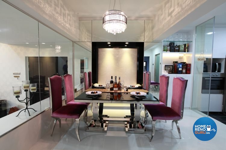 Classical, Contemporary, Modern Design - Dining Room - Condominium - Design by 9 Degree Construction Pte Ltd
