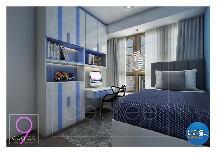 Eclectic, Modern Design - Bedroom - Condominium - Design by 9 Degree Construction Pte Ltd