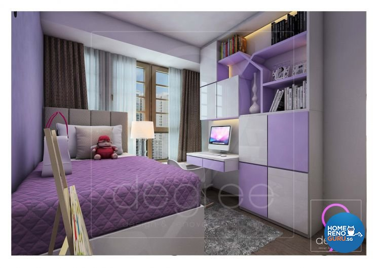Eclectic, Modern Design - Bedroom - Condominium - Design by 9 Degree Construction Pte Ltd