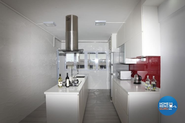 Contemporary, Minimalist, Modern Design - Kitchen - HDB 3 Room - Design by 9 Degree Design & Renovation Studio