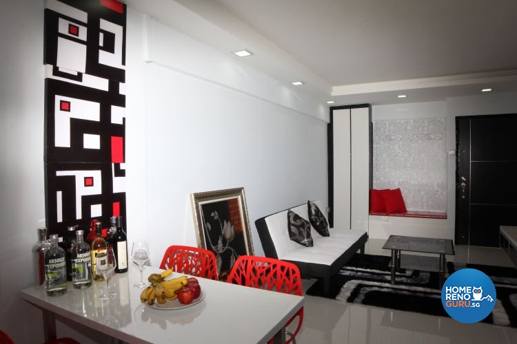 Contemporary, Minimalist, Modern Design - Dining Room - HDB 3 Room - Design by 9 Degree Design & Renovation Studio