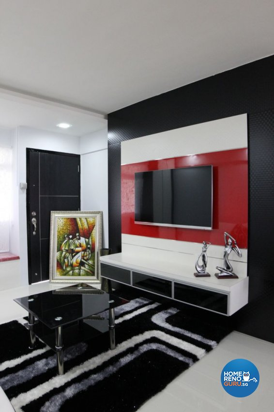 Contemporary, Minimalist, Modern Design - Living Room - HDB 3 Room - Design by 9 Degree Design & Renovation Studio