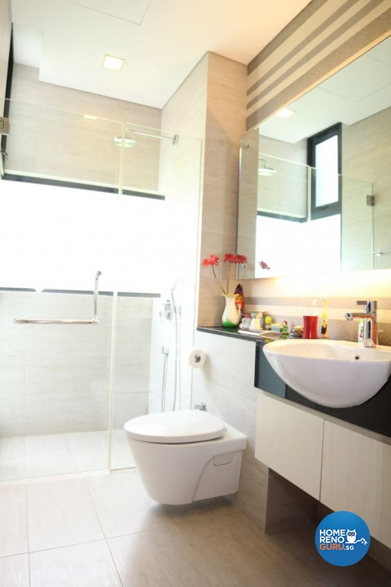 Contemporary, Minimalist, Modern Design - Bathroom - Landed House - Design by 9 Degree Design & Renovation Studio
