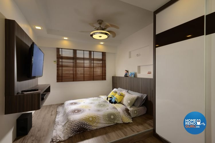 Minimalist, Modern Design - Bedroom - HDB 5 Room - Design by 96 Degree Designers